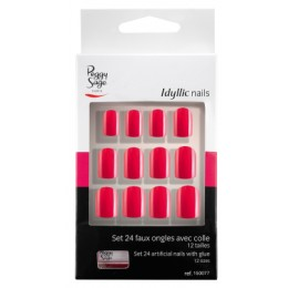 Kit 24 faux ongles Idyllic nails Peggy Sage