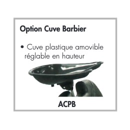Option cuve barbier pour Fauteuil Barbier Gentleman Jacques Seban